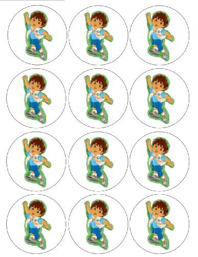Single Source Party Supply - Diego Cupcakes Edible Icing Image (Diego Cake Topper)