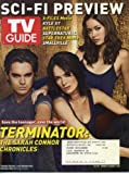 TV Guide January 21, 2008 Sci-Fi Preview, Terminator: The Sarah Connor Chronicles Cover, Kyle XY, James Marsters Interview (Buffy the Vampire Slayer, Smallville, Torchwood)