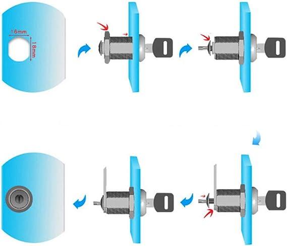 25 Chougui Keyed Alike Cerradura de buz/ón armario caj/ón Cam Lock para armario 20 Paquete de 5 repuestos de cerradura para buz/ón puerta 30 mm 16