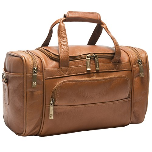 Muiska Leather Marco Petite Sport Duffel Carry on Travel Gym Bag, Saddle, One Size by Muiska