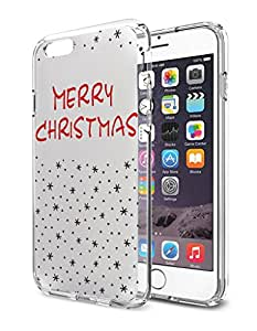 OOFIT iPhone 6 Plus/6S Plus Case, 2015 Unique Design Cool Protective Cover Merry Christmas - Black Snowflakes Pattern