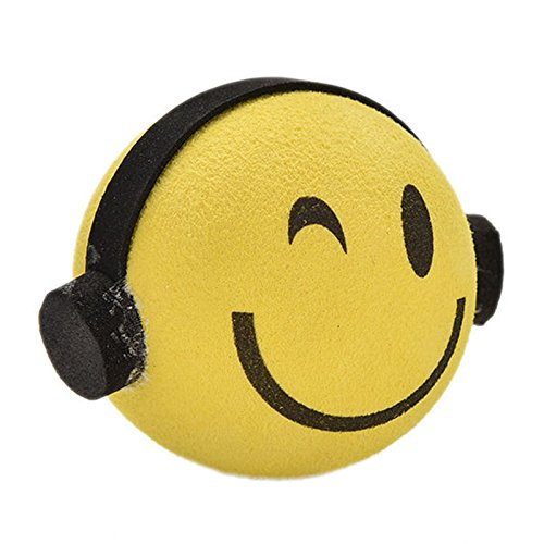 - Nice Yellow Smile Happy Face Car Antenna Pen Topper Aerial Ball
