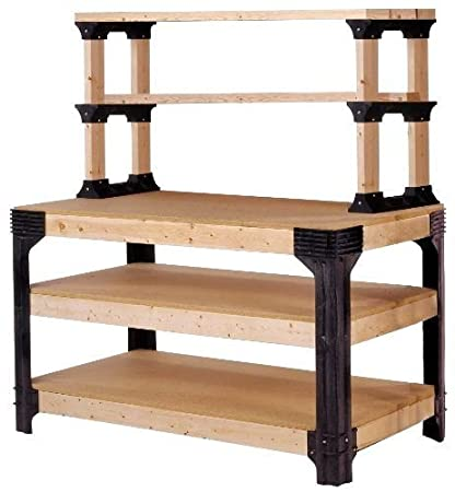 Amazon Com Diy Custom Workbench Storage Wooden Shelf Garage Shop