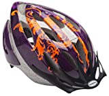 Schwinn Thrasher Lightweight Microshell Bicycle Helmet Featuring 360 Degree Comfort System with Dial-Fit Adjustment, Adult, Orange/Purple