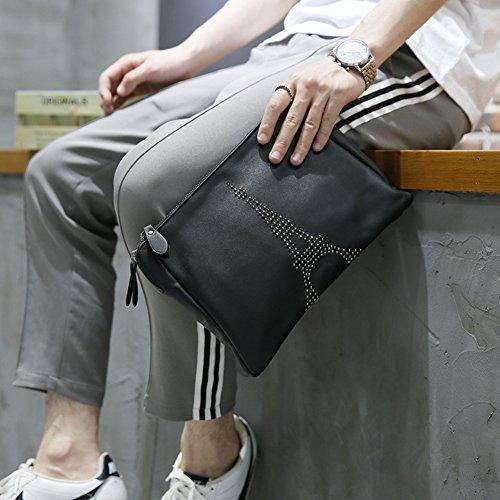 Embrayage Hommes D'affaires Aiurbag Main À Fashion Noir Enveloppe Sac Sacs Z7xHq5