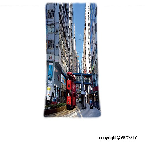 VROSELV Custom Towel Soft and Comfortable Beach Towel-hongkong september shopping street and people buildings covered by advertis Design Hand Towel Bath Towels For Home Outdoor Travel Use - Shopping Street Copenhagen