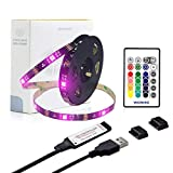 WENICE TV Backlight 9.9ft for 40 to 65inch TV, USB led Strip Lights Kit with 24key IR Remote 16 Color 5050 LEDs Bias Lighting for HDTV