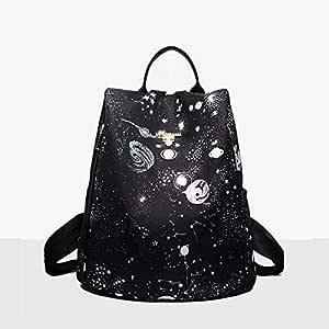 Digital Printed Canvas Backpacks black