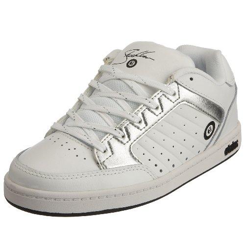 Etnies Little Kid/Big Kid Kids Sheckler Sneaker,White/Silver,5 M US Big Kid
