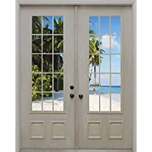 J.P. London MD4156PS Peel and Stick in Trance Beach Door Removable Wall Mural, 7.5-Feet by 6-Feet