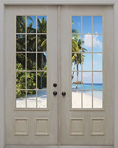 JP London MD4156PS Peel and Stick In Trance Beach Door Removable Wall Mural, 7.5-Feet by 6-Feet by JP London