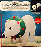 8 Ft Inflatable Polar Bear with LIGHTS and MOTION