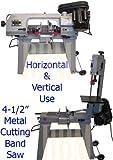 4-1/2'' Metal Cutting Band Saw 4x6 Horizontal Vertical Band Saw