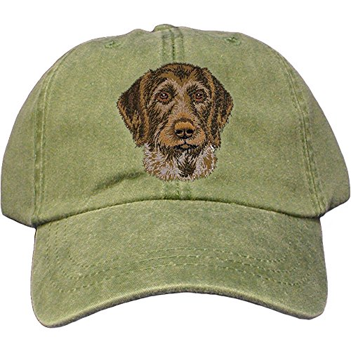 - Cherrybrook Dog Breed Embroidered Adams Cotton Twill Caps - Spruce - German Wirehaired Pointer