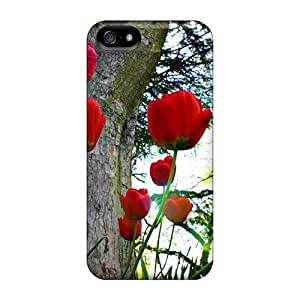 HnvavkS2433hQNcw Red Tulips Awesome High Quality Iphone 5/5s Case Skin