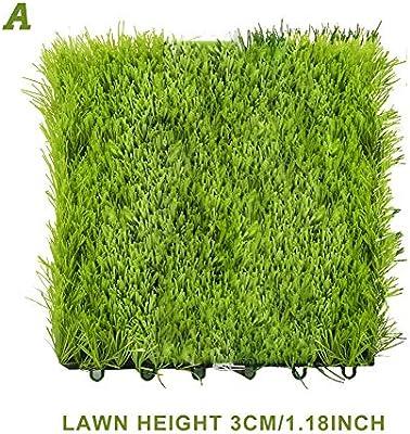 Césped artificial, alfombra de césped Alfombrilla de césped sintético resistente a la intemperie Alfombra de césped artificial Alfombra de alfombra de césped con agujeros de drenaje Jardín al aire lib: Amazon.es: Hogar