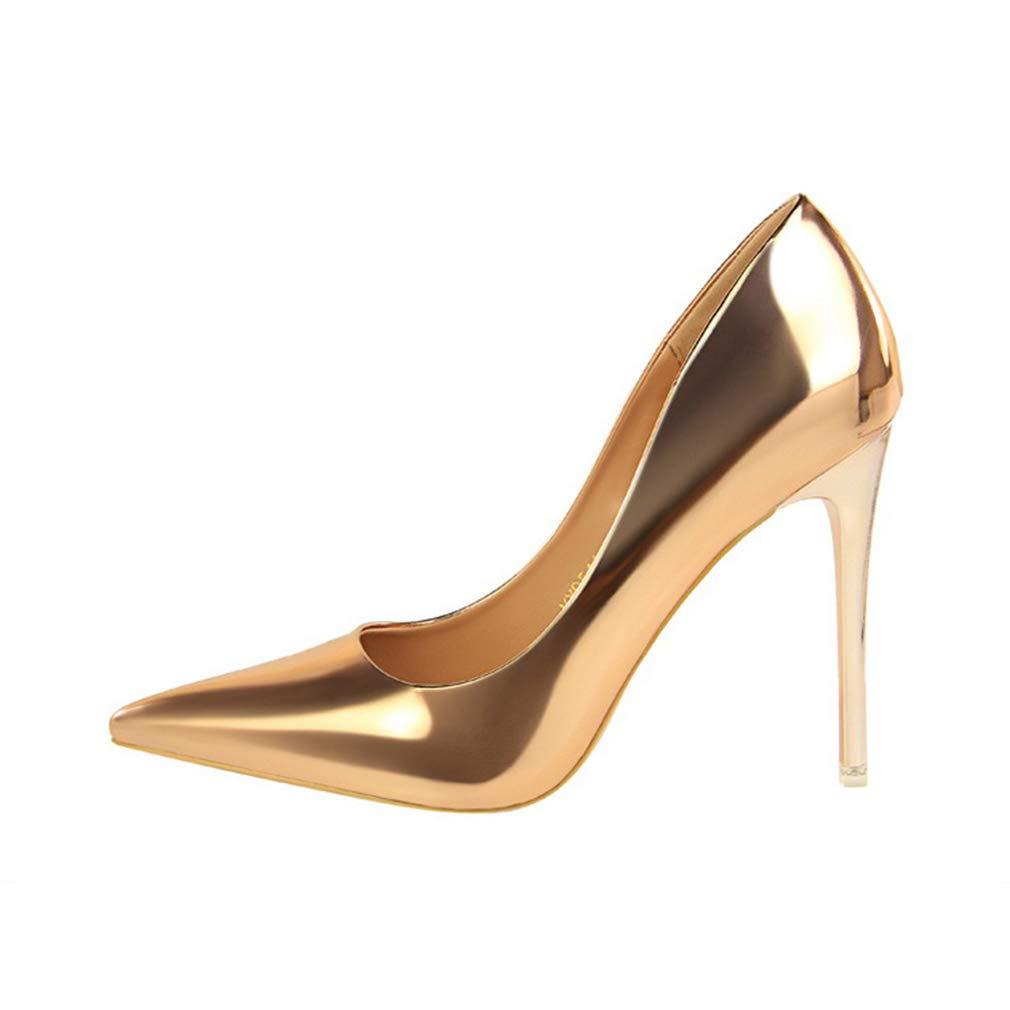 YAN Damen Pumps Frühling & Herbstmode High Heels Sexy Nachtclub PU Pailletten Stiletto Formelle Schuhe