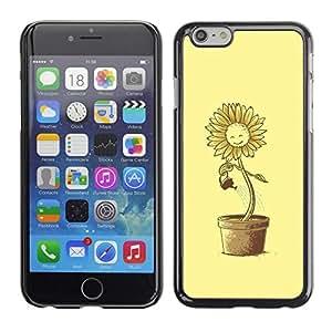 Be Good Phone Accessory // Dura Cáscara cubierta Protectora Caso Carcasa Funda de Protección para Apple Iphone 6 // Funny Suflower Waterin