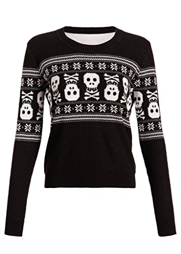 Womens Holiday Inspired Skull Ugly