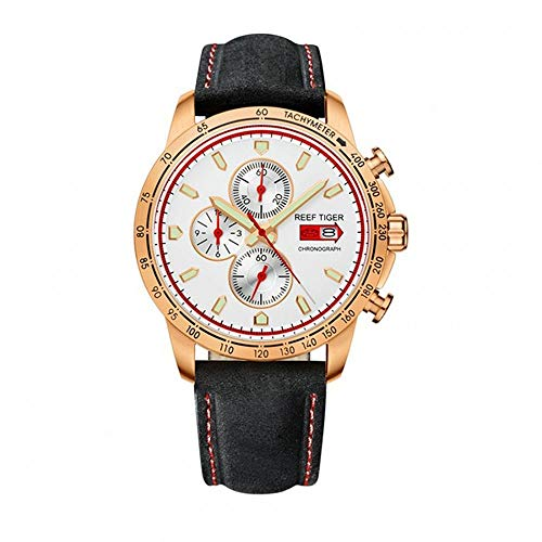 - LiBetyd RT Sport Watch for Men Chronograph Quartz Watch with Italian Calfskin Leather and Super Luminous Watch-RGA3029PWB