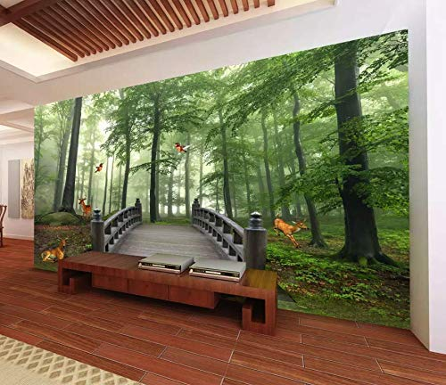 Amazon.com: Murwall Forest Wallpaper 3D Jungle Wall Mural ... on natural home colors, natural home painting, natural home garden, natural home interiors, natural home furnishings, natural decorating, natural home design,