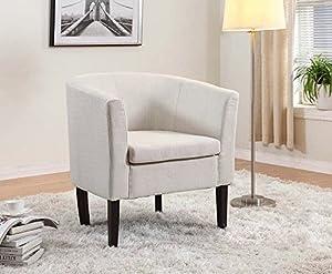 Amazon Com Home Life Armen Linon Ivory Beige Sofa Arm