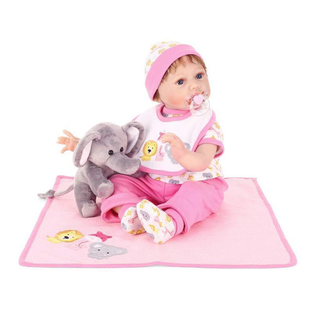 IIWOJ Bella Reborn Baby Doll, Silicone Vinile 21,65 Pollici Realistico Neonato Occhi acrilici-Girl ' s Gifts 65 Pollici Realistico Neonato Occhi acrilici-Girl ' s Gifts