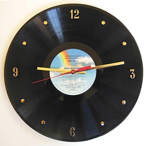 Jimmy Buffett Vinyl Record Clock (You Had To Be There, Jimmy Buffett In Concert). Handmade 12