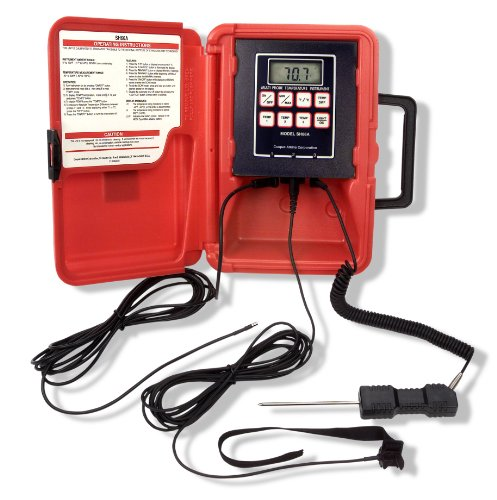 Cooper-Atkins SH66A-E Multi-Temperature 3 Zone Thermistor Instrument with 1075 General Purpose Probe, 2010 Air Probe and 4011 Pipe Strap Probe, -40°F to 300°F Temperature Range by Cooper