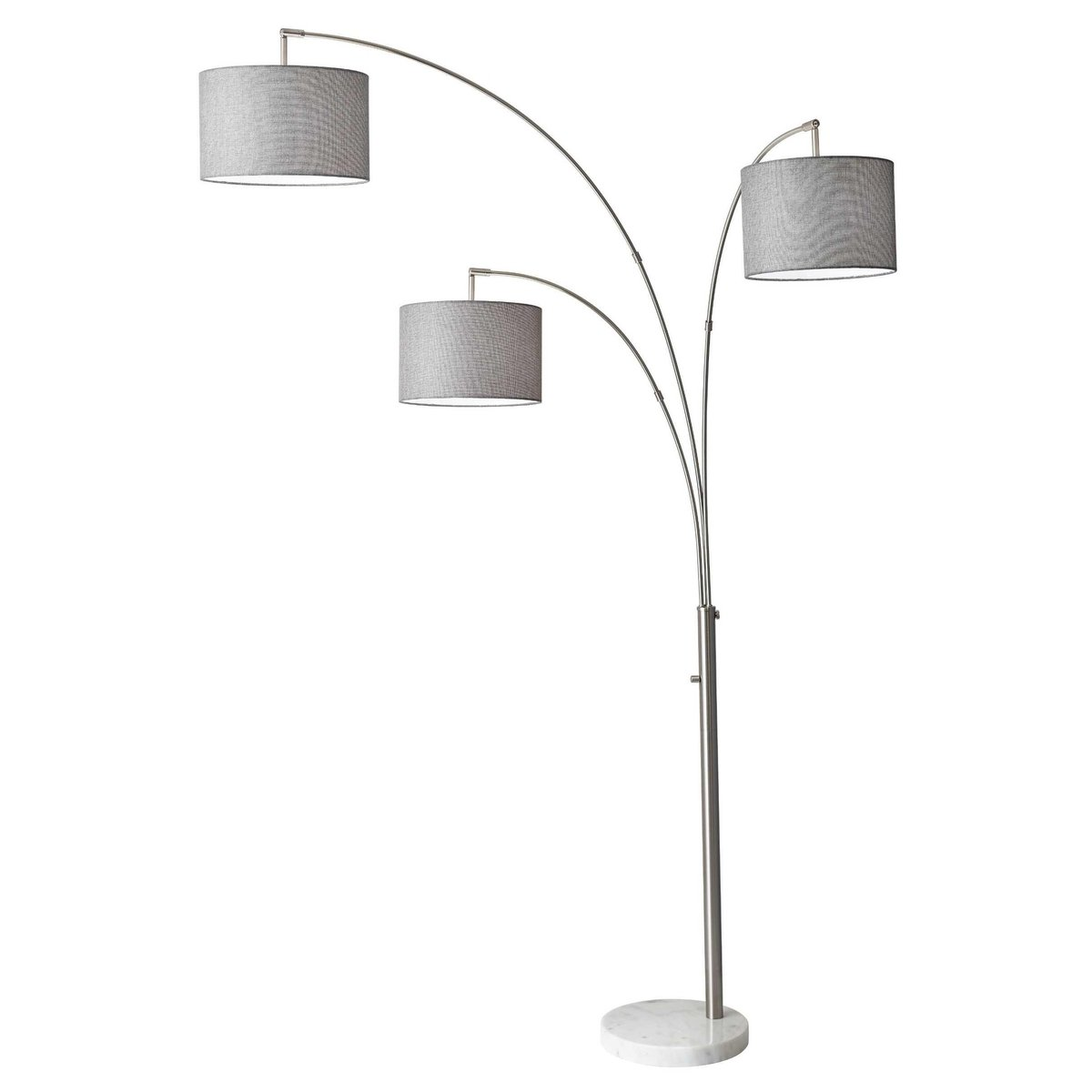 Adesso 4250-22 Bowery Arc 3-Light Floor Lamp, Steel, Smart Outlet Compatible, 83'' by Adesso