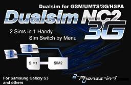 NC2 3G Dualsim Adapter No Cut for Samsung Galaxy S3