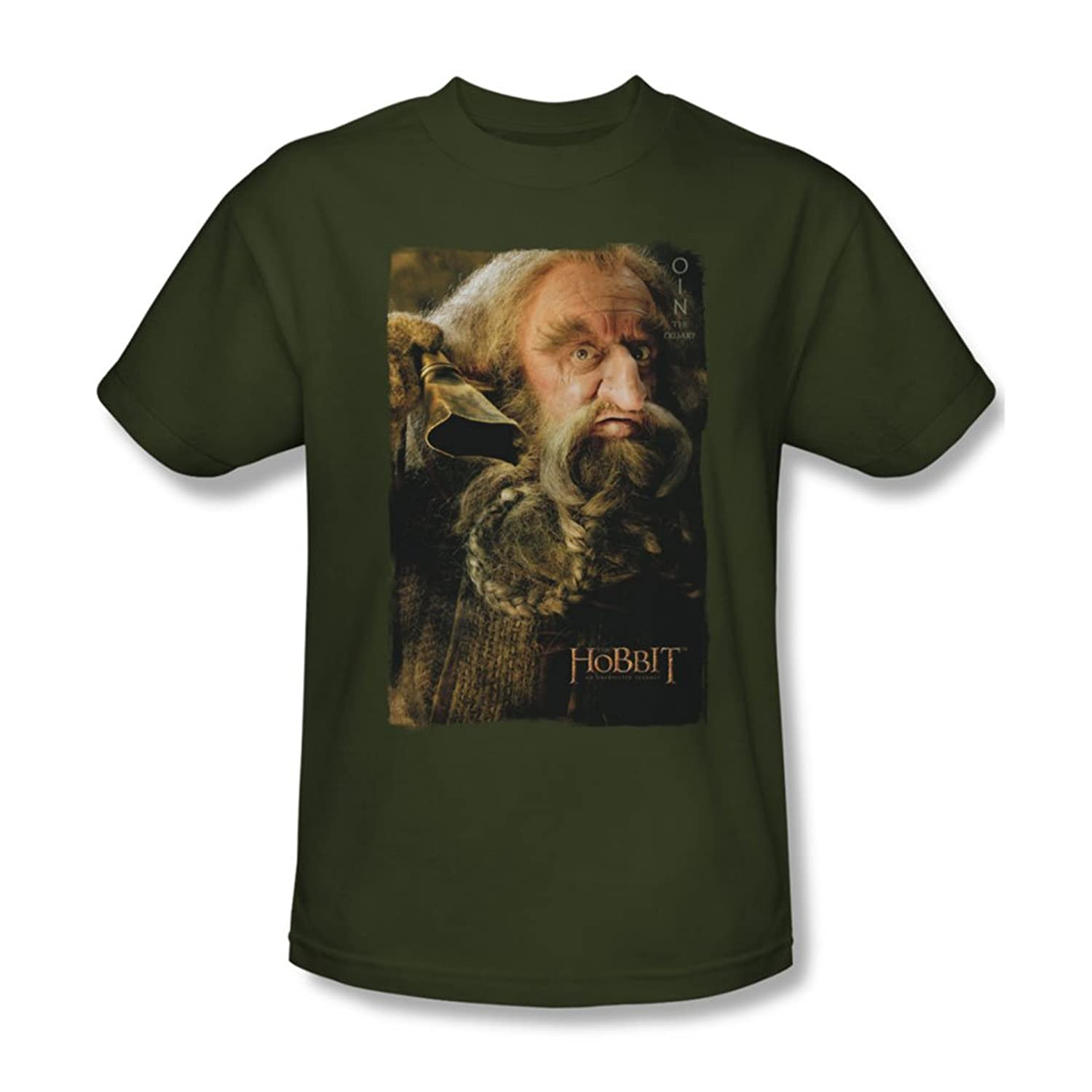 The Hobbit - Mens Oin T-Shirt In Military Green