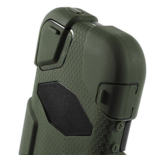 JUJEO iPhone 5s 5 Military Duty Silicone and PC Hybrid Cover w/Belt Clip - Retail Packaging - Green