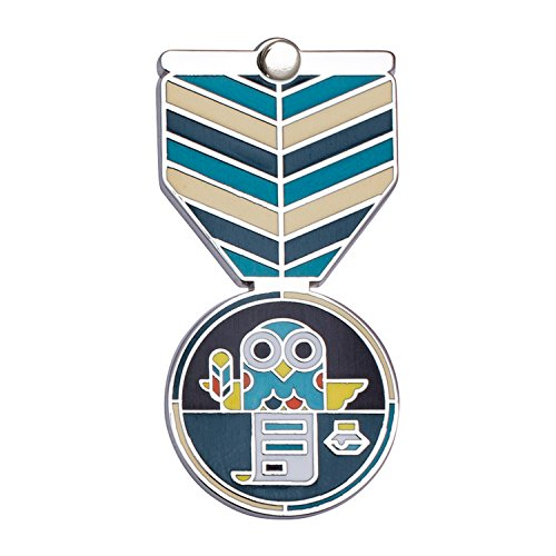 WRITING Award: Greeting Card & Gift (Enamel Lapel Pin / Necklace Charm) for Academic Excellence by Merit Medals