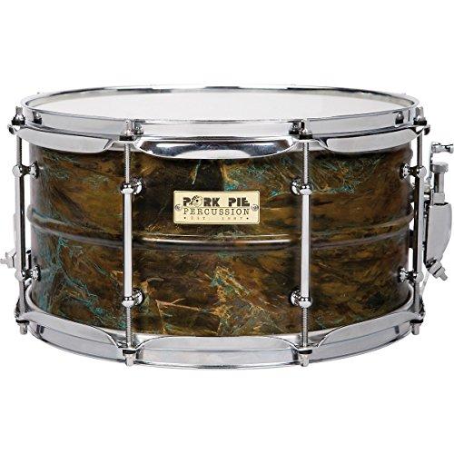 Pork Pie Snare Drum 7x13 Brass Shell Custom Patina Finish...