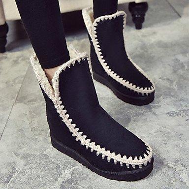 Tacco Toe RTRY Boots Caviglia Da In 5 Comfort Inverno US8 Stivali CN40 Stivali Novità UK6 5 Nubuck Pelle Autunno Scarpe Round Fodera Donna Snow Piatto Lanugine Stivaletti Fashion EU39 wwqrRxTO