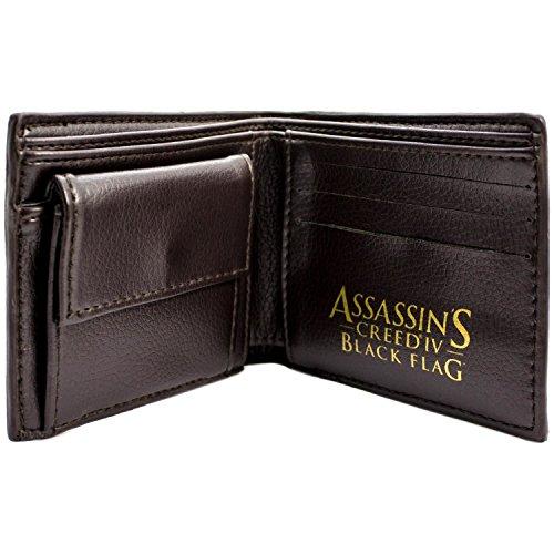 Multicolore Creed Black Ubisoft Assassins Flag Portafoglio HOnn57wq