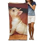 Beach Towel French Bulldog Yoga Microfiber Towel