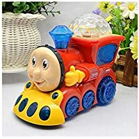 Vikas gift gallery Bump and go Musical Engine Toy Train with 4D Light and Sound, Multi Color