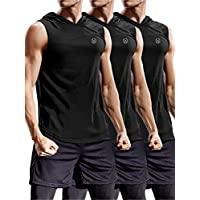 Neleus Workout Athletic Muscle Tank Hoods Pack of 3
