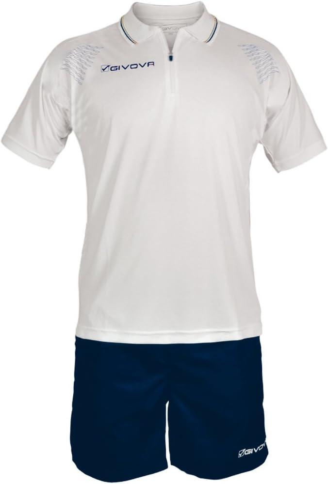 TALLA 2XL. Home Shop Italia Marca Givova–Modelo Kit Easy–Completo de Camiseta Manga Corta y pantalón Corto