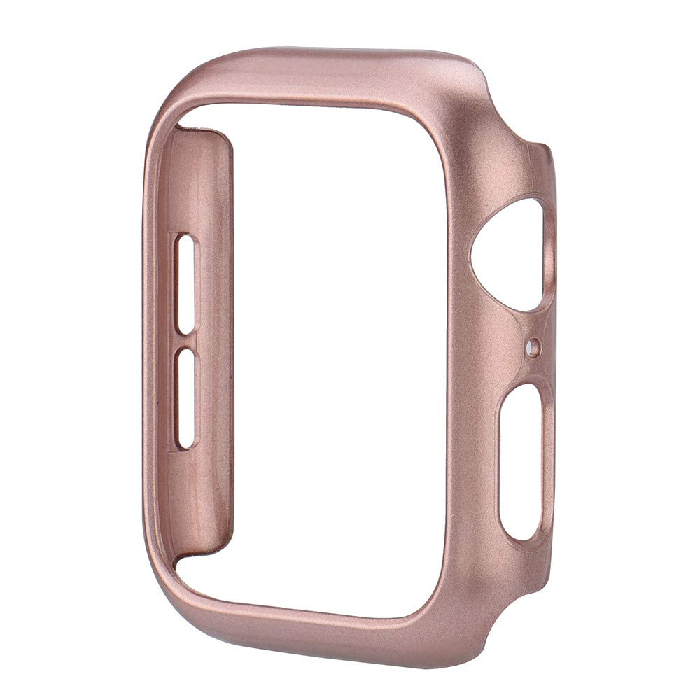 Compatible Apple Watch Series 4 Bumper 40mm 44mm Built-in Screen Protector iWatch Ultra Thin PC Spraying Case Protective Case Cover Bumper Compatible Apple Watch 4 Series 4 40mm 44mm (44mm, Rose Gold) by TLT Retail (Image #2)
