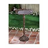 RUSTIC CAST IRON DECORATIVE BIRDBATH PATIO GARDEN DECOR YARD ART