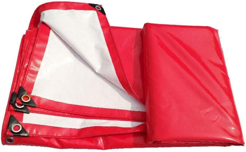 PVCキャノピートップクロス|トラックカバー日よけローラーブラインド - 防水日焼け止め耐摩耗性、赤  6*8M