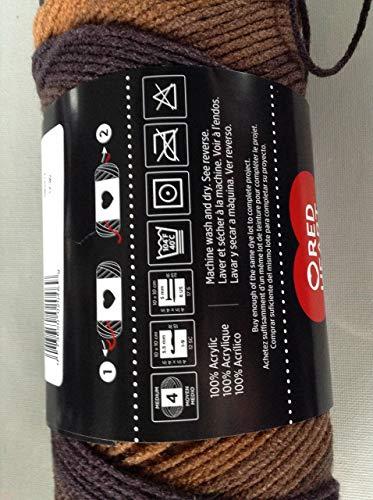 RED HEART E300.4969 Super Saver Stripes Yarn Latte
