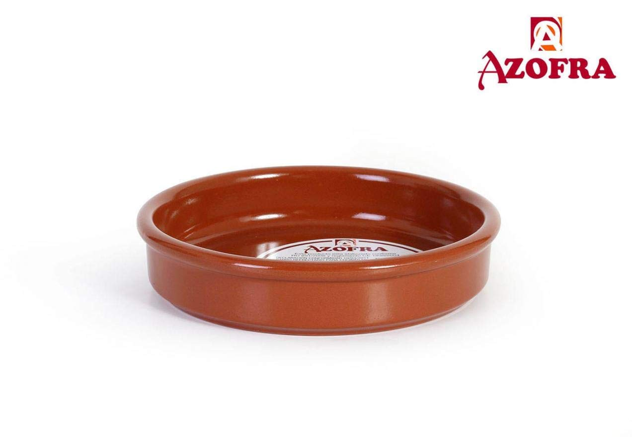 Azofra 50069 Cazuela Vitro, 16 cm, Barro: Amazon.es: Hogar