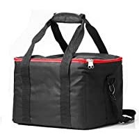 Pergear 12x10x9 Lightweight Fabrics Carrying Case Bag with 4 Removable Sponge Layers for Aputure AL-528 HR672 Led Video Lights
