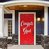 Victory Corps Congrats Grad Red - Outdoor GRADUATION Garage Door Banner Mural Sign Décor 36'' x 80'' One Size Fits All Front Door Car Garage -The Original Holiday Front Door Banner Decor