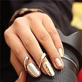 ویکالا · خرید  اصل اورجینال · خرید از آمازون · Europe Punk Golden Sliver Finger Opening Ring Nail Ring Jewelry wekala · ویکالا