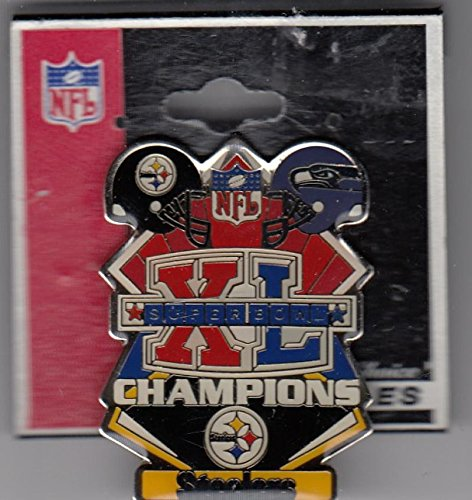 (Super Bowl 50 Pittsburgh Steelers Champions pin fully licensed)